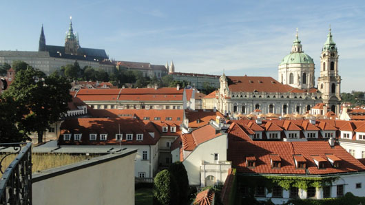 Vrtbovská Garden - View to the St. Nicholaus Church & St. Vitus´s Cathedral