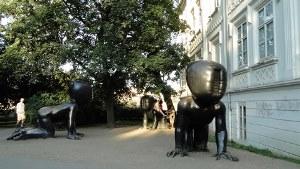 Three Babies in Kampa (Prague)