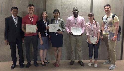 Group photo of Mr. Adeleke and other recipients of ISPRS/TIF Travel Grants at the 2016 ISPRS Prague Congress
